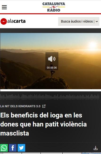 Els beneficis del ioga en les dones que han patit violència masclista (Catalunya Radio, 2021)
